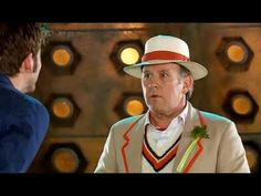 Tenth Doctor and Fifth Doctor meet. Funny!