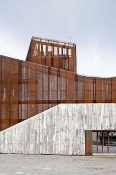 33 Best Ideas For Concrete Wood Architecture Facade Inspiration Cultural Architecture, Architecture Extension, Wood Architecture, Residential Architecture, Amazing Architecture, Contemporary Architecture, Architecture Details, Architecture Facts, Installation Architecture