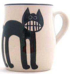 Grinning Cat Mug by Karen Donleavy | American Folk Art Museum Shop