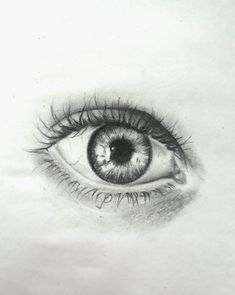 Graphite pencil drawing - I see you