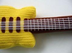 Crochet Pattern ELECTRIC GUITAR Toys PDF 00447 by skymagenta