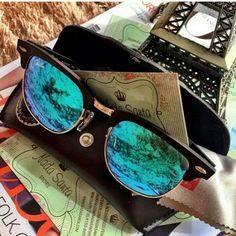 Street Styles   Ray Ban Sunglasses $13.99! 2015 Women Fashion Style From USA Glasses Online. #RayBanSunglasses