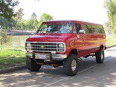Chevy Vans, Chevy 4x4, Lifted Van, Off Road Rv, 4x4 Van, Bug Out Vehicle, Cool Vans, Four Wheel Drive, Custom Vans