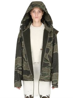 YEEZY CAMO PRINTED COTTON CANVAS JACKET, GREEN/GREY. #yeezy #cloth #casual jackets