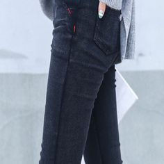 Skinny Jeans Woman 2017 New Spring Fashion Boyfriend Washed Elastic Denim Trousers Pencil Slim Capris Pants Imitation Jean Femme Boyfriend Style, Skinny Jeans, Women's Jeans, Spring Fashion, Capri Pants, Trousers, Slim, Pencil, Woman