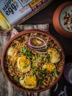 #ad Instant Pot Egg Biryani is this delightful combination of fragrant Basmati rice cooked with spices and then interlaced with spiced, boiled eggs. Learn how to make this flavorful biryani in a pressure cooker in half the time. #biryani #eggs #biryani