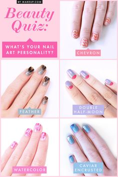Ever wonder what your nail art personality is? Check out this quiz! I'm apparently caviar... Luxe all the way baby!