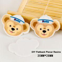 50pcs New Arrival Kawaii Cartoon Duffy Bear Flatback Resins DIY Resin Crafts Planar Resin for Phone Decoration Accessories DL444