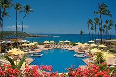 "Enjoy a ""Cool Cake"" cocktail while lounging poolside at Manele. #Hawaii"