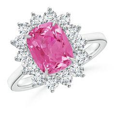 Angara Pave Set Pink Sapphire Olive Leaf Vine Ring kGYff78