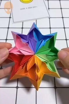10 amazing and funny origami idea . - 10 Amazing and Funny Origami Ideas DIY Tutorials Videos Part 9 - Paper Flowers Craft, Paper Crafts Origami, Paper Crafts For Kids, Flower Crafts, Diy Paper, Origami Paper Art, Diy Flowers, Paper Folding Crafts, Rope Crafts