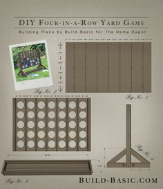Build a DIY Four-in-a-Row Yard Game