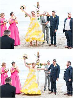 Best Bride Reaction | Meelup Beach Wedding Ceremony | Dunsborough South West Wedding | Wedding Photography | Perth | Mandurah | Rockingham | Swan Valley | Fremantle | Trish Woodford Photography | www.trishwoodfordphotography.com