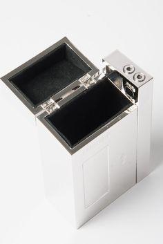 AMBUSH Cassette Player Cigar Case In Silver