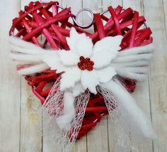 Cuore natalizio rosso con stella di Natale, by Marzia Creazioni, 8,00 € su misshobby.com