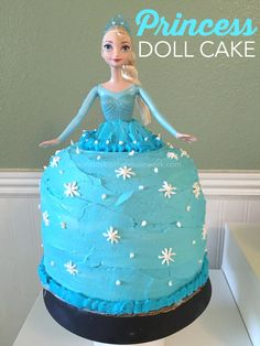 How to make a Princess Doll Cake - and easy process that just takes time but it will be the hit of the party!