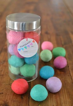give the gift of the most beautiful colored homemade playdough this Holiday season!