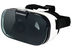 """FANNEGO 3D VR Headset Virtual Reality Glasses for 3d Movies And Games Compatiable with IOS/Android 4.0""""-6.5"""" Smartphone. Enjoy Anytime Anywhere - Greatly enjoy a private visual feast comfortably and convenient to use, allowing you watch at anytime anywhere whether sitting, lying or standing as you like, no need any software; it is a great companion for traveling or staying house. Made With High Quality Equipment: Durable and adjustable T-shaped straps make it possible to fit different group…"""