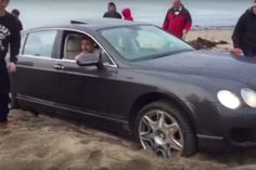 Friday #FAIL: #Bentley Gets Stuck in Sand on the Beach  #cars #luxury #supercars #beach #summer #stupid #funny  See More Friday FAIL >>> http://www.motoringexposure.com/trending/