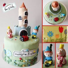 Tarta fondant El Pequeño Reino de Ben y Holly | fondant cake Ben and Holly's Little Kingdom