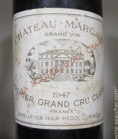 chateau margaux | Chateau Margaux, Margaux, France label