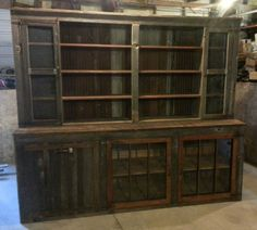 Hutch by Weathered & Rusted. Home Decor Furniture, China Cabinet, Rustic, Storage, Ideas, Country Primitive, Purse Storage, Crockery Cabinet, Chinese Cabinet