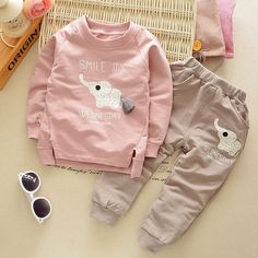 Cheap baby children, Buy Quality clothing sets directly from China children boy Suppliers: [Mumsbest] New Autumn Spring baby children boys girls Cartoon Elephant Cotton Clothing Sets T-Shirt+Pants Sets Suit 12M-4T