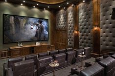 Home movie theater.. <3 it, <3 it, <3 it!!! Wine or brandy, cigars and old classic mafia films :)