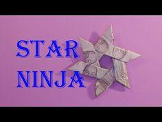 money origami star easy xếp ngôi sao bằng tiền | gấp giấy origami - Sáng tạo xanh Pebble Painting, Pebble Art, Stone Painting, Rainbow Loom Charms, Rainbow Loom Bracelets, Origami Youtube, Ninja Star, Money Origami, Origami Jewelry