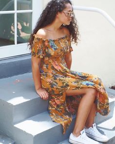 """75.2k Likes, 145 Comments - Urban Outfitters (@urbanoutfitters) on Instagram: """"For the warmest days: the Kimchi Blue Off-The-Shoulder Smocked Dress, SKU #42714469. @UOMiami…"""""""