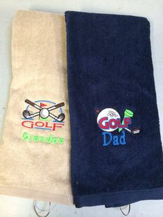 Personalized Golf Towels -  Father's Day -  Birthday - Golf Gift - by OurLilBowtique, $16.00