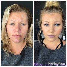 Younique: Wakeup to Makeup  Before and after = amazing results!