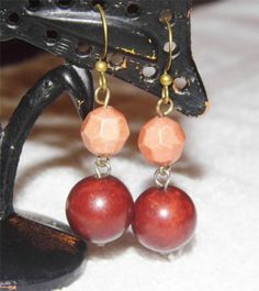 Beautiful beaded dangle earrings GA7