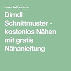 Dirndl Schnittmuster - kostenlos Nähen mit gratis Nähanleitung