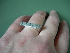 Ring, by Lígia Rocha     Sterlingsilver with texture.