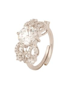 Appealing Cz Encrusted 925 Sterling Silver Ring