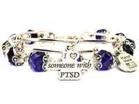 2 PIECE SET I LOVE SOMEONE WITH PTSD BANGLE BRACELET COLLECTION