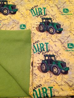 John Deere i make Dirt look Good Baby Blanket Baby by QuinnsBin, $16.50