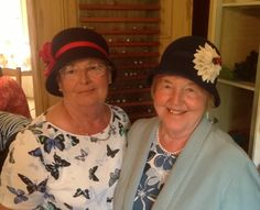 Fantastic flowers on these hats...