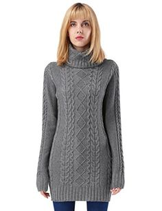 Chic ninovino Women s Turtleneck Cable Knit Sweater Pullover Tops online.    35.99  weloveoffer from c75d6ad62