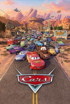A hot-shot race-car named Lightning McQueen gets waylaid in Radiator Springs, where he finds the true meaning of friendship and family. Disney Pixar Cars, Disney Movies, Disney Disney, Disney Villains, Disney Posters, Car Posters, Movie Posters, Lightning Mcqueen, Online Cars