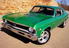 1970 Chevrolet Nova. Love the green!