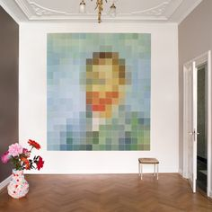 I love pixel art. This is Van Gogh, by ixxi. Vincent Van Gogh, Pixel Art, Van Gogh Portraits, Portrait Art, Wall Murals, Wall Art, Wall Collage, Van Gogh Museum, Famous Art