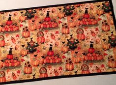 Give Thanks Table Runner by ThePlaidPiecemaker on Etsy