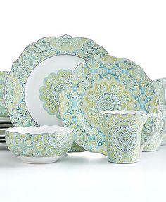 arte italica dinnerware merletto aqua 5 piece place setting casual dinnerware dining u0026 macyu0027s kitchen pinterest places