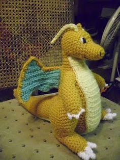 Dragonite - Pokemon Character - Free Amigurumi Pattern http://calaverascocina.blogspot.com.au/2011/07/dragonite.html