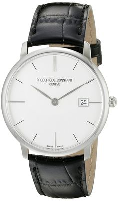 Amazon.com: Frederique Constant Men's FC220S5S6 Slim Line Analog Display Swiss Quartz Black Watch: Frederique Constant: Watches
