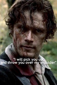 1a-101 SASSENACH ~~~#Outlander Jamie Fraser quote,