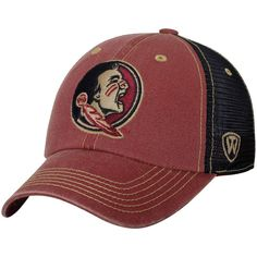 Men's Top of the World Garnet/Black Florida State Seminoles Past Trucker Adjustable Hat