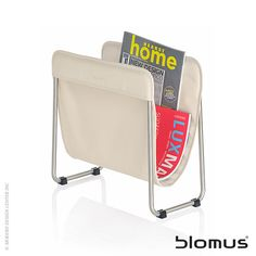 Blomus Levio Cool #magazineorganizer and #holder with removable colored liner. Washable fabric liner. Available in 5 colors. Available at Vincimed.com